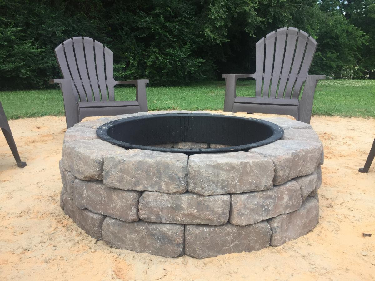 Fire pit built with RUTLAND Castable Refractory Cement